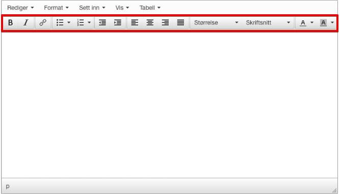 Teksteditor nederst